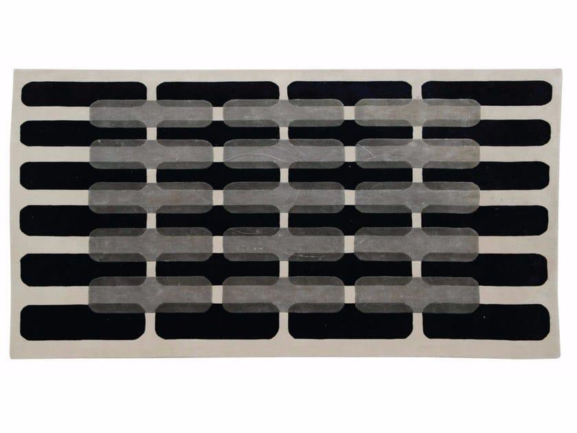 Patterned handmade rectangular rug MAILLON by ROCHE BOBOIS