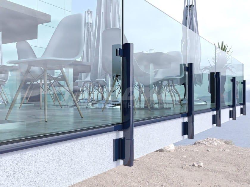 Parapetto in alluminio e vetro MAIOR COLORS 60 LINE by FARAONE