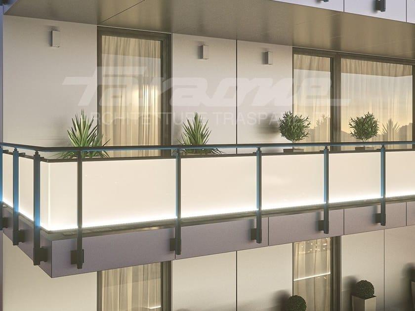 LED glass and aluminium balustrade MAIOR COLORS PLUS LED by FARAONE