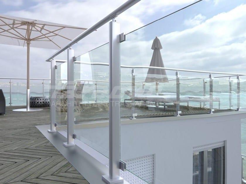 Parapetto in alluminio e vetro MAIOR COLORS VISION by FARAONE