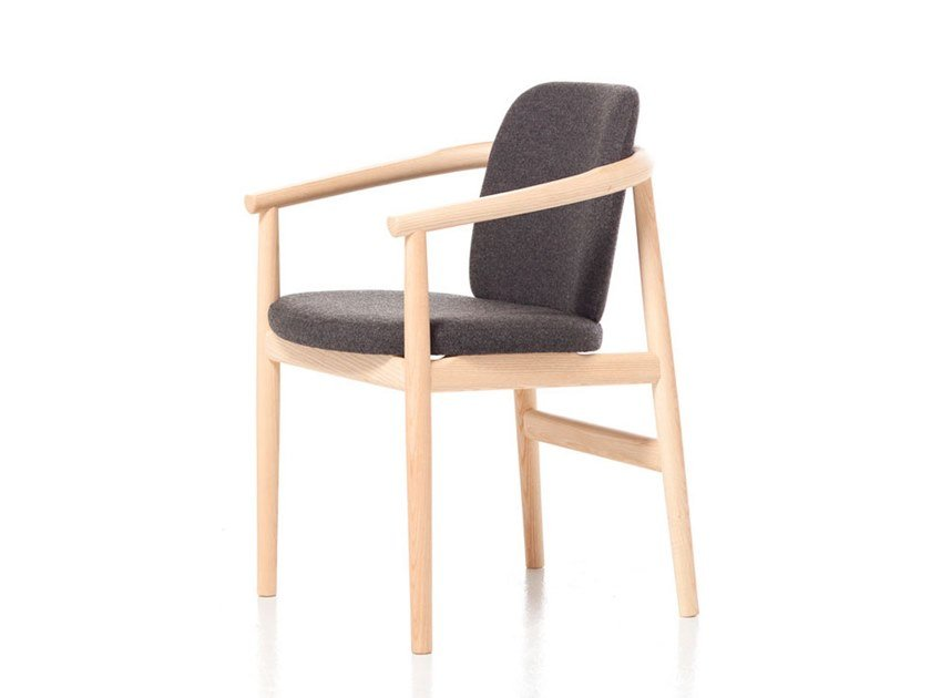 Easy chair with armrests MAIYDA 02 by Very Wood
