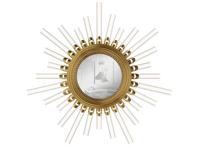 Round wall-mounted mirror MAJESTIC | Mirror with integrated lighting by LUXXU