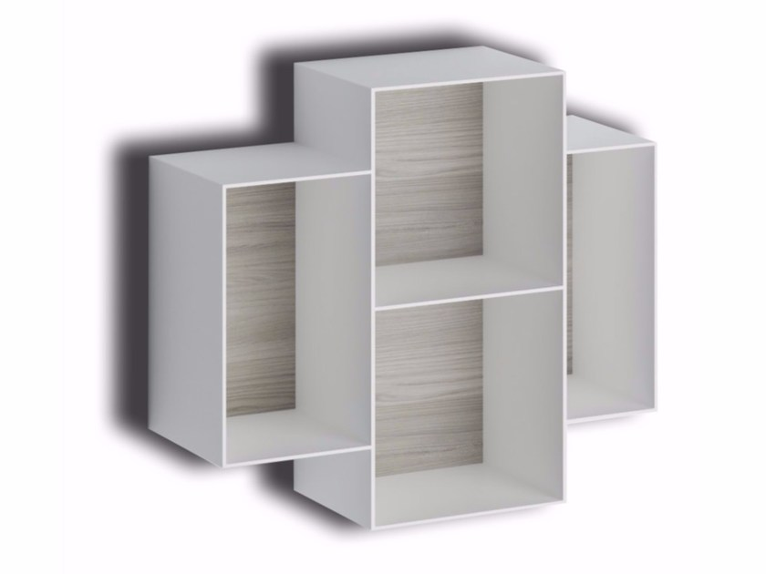 Open sectional wall cabinet MAKE METAL by LASA IDEA