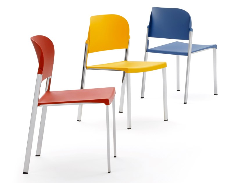 Metal and recycled polypropylene chair MAKEUP   Chair by Diemmebi