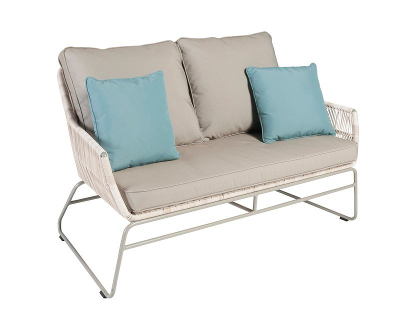 2 seater sled base garden sofa MALDIVES | 2 seater garden sofa by Kok Maison