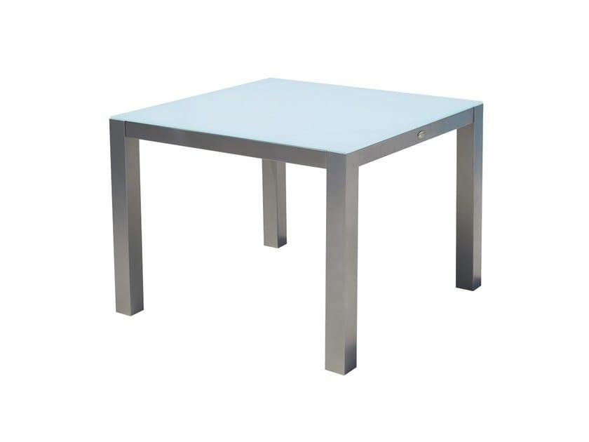 Tavolo da giardino quadrato in vetro per contract MALDIVES 22987 by SKYLINE design