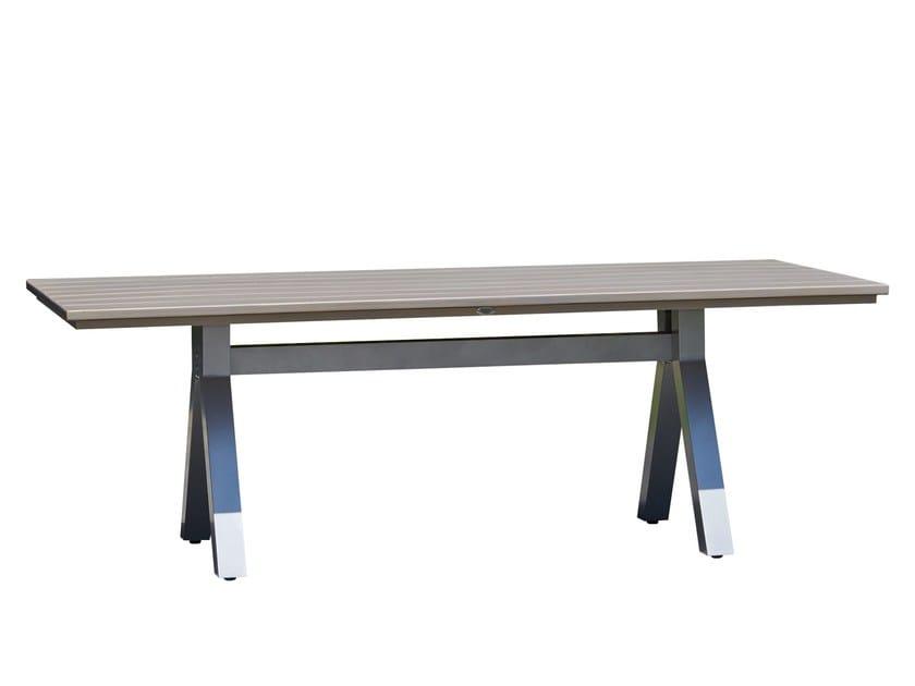 Tavolo da giardino rettangolare in teak per contract MALDIVES 23111 by SKYLINE design