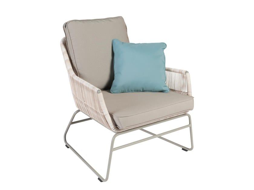 Sled base garden armchair with armrests MALDIVES   Garden armchair by Kok Maison