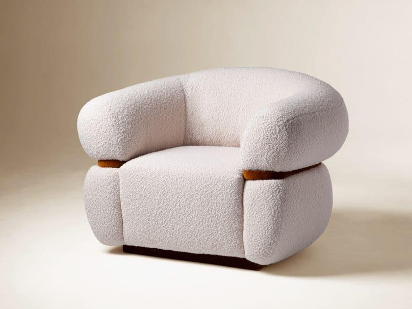 Fabric armchair with armrests MALIBU | Armchair by DOOQ