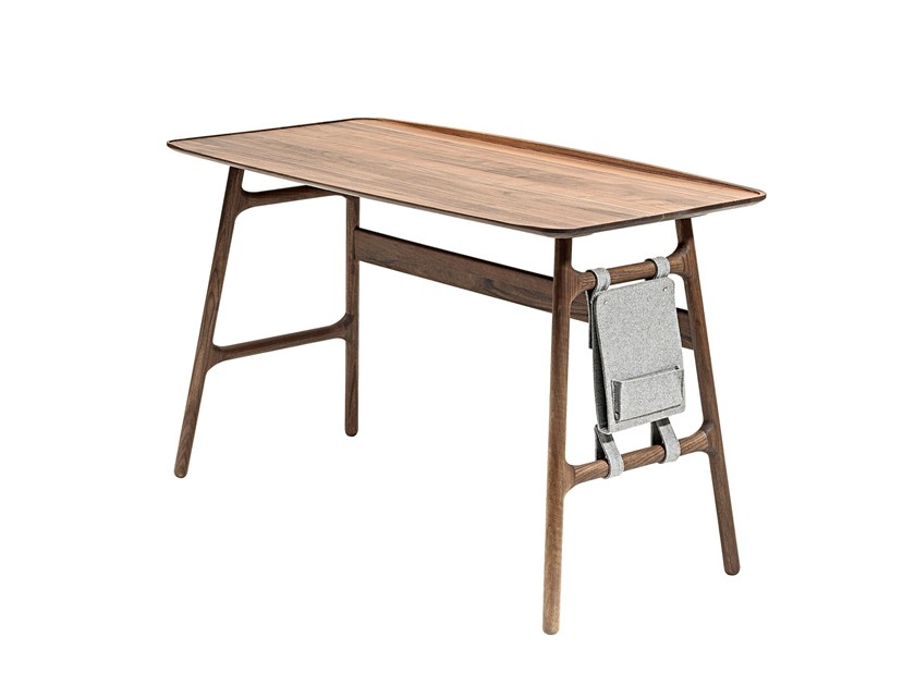 Solid Wood Secretary Desk Malin By Woak