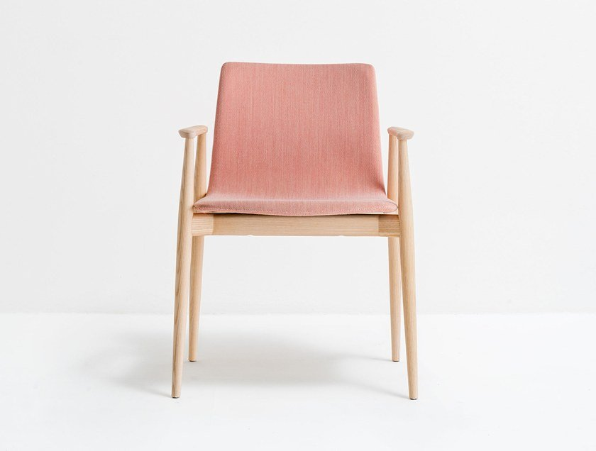 Wooden chair with armrests MALMÖ 396 | Chair by Pedrali