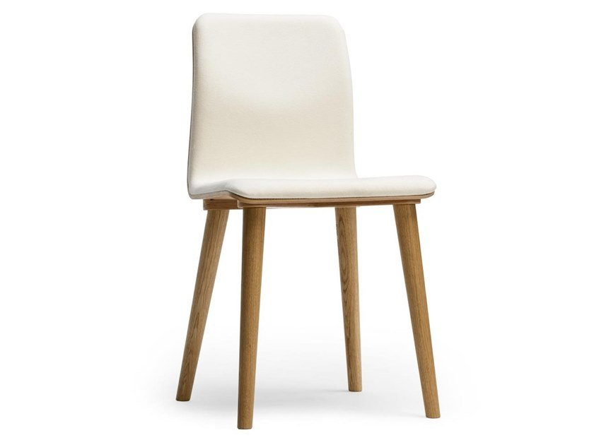 Wooden chair with integrated cushion MALMÖ | Chair with integrated cushion by TON