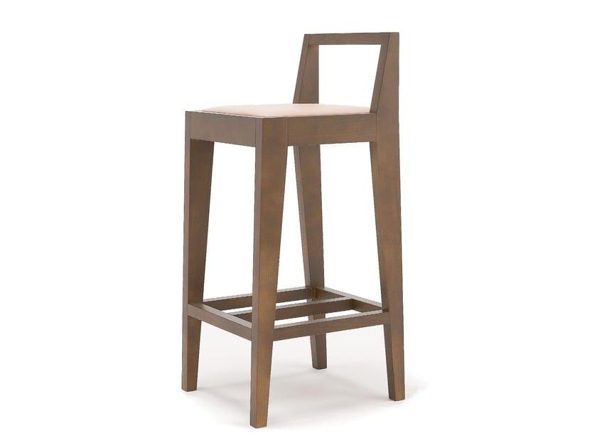 Sedia in legno massello con poggiapiedi MALMO by Egoitaliano