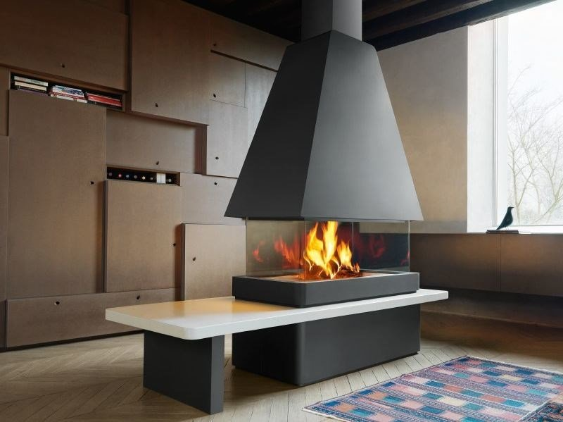 Steel Fireplace Mantel MALMO by Piazzetta