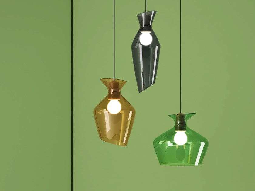 LED glass pendant lamp MALVASIA by Fabbian