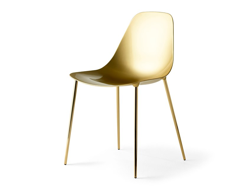 Stackable steel chair MAMMAMIA GOLD by Opinion Ciatti