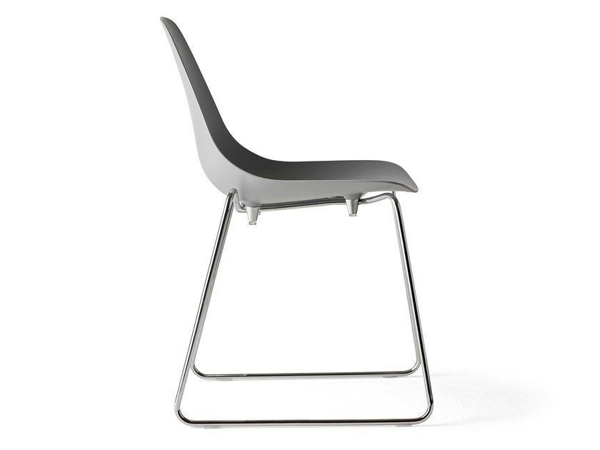 Sled base stackable steel chair MAMMAMIA SLED | Chair by Opinion Ciatti