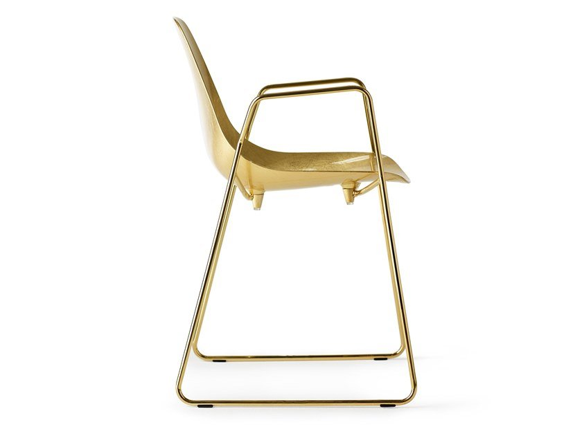 Sled base steel chair with armrests MAMMAMIA SLED | Chair with armrests by Opinion Ciatti