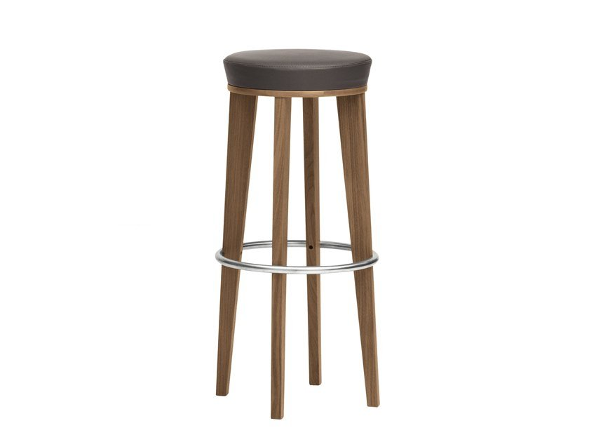 High barstool with footrest MAMY | CONTRACT | High stool by PIAVAL