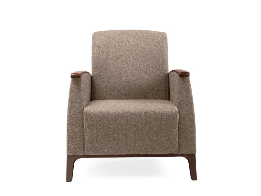 Fabric armchair with armrests MAMY | HEALTH & CARE | Armchair by PIAVAL