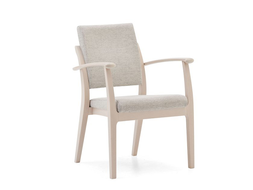 Upholstered stackable chair with armrests MAMY | HEALTH & CARE | Chair with armrests by PIAVAL
