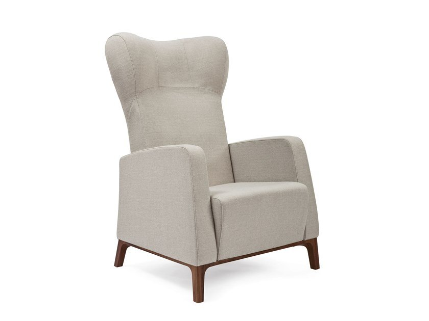 Ergonomic fabric armchair with armrests MAMY | HEALTH & CARE | Fabric armchair by PIAVAL