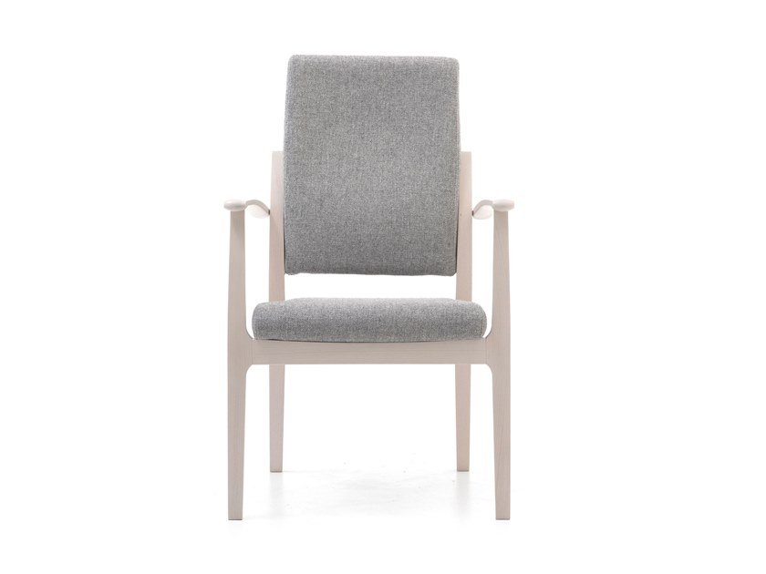 High-back fabric chair with armrests MAMY | HEALTH & CARE | High-back chair by PIAVAL