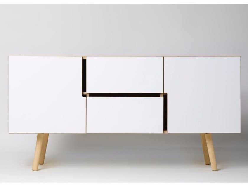 Multi-layer wood sideboard with doors MAN | Multi-layer wood sideboard by Radis