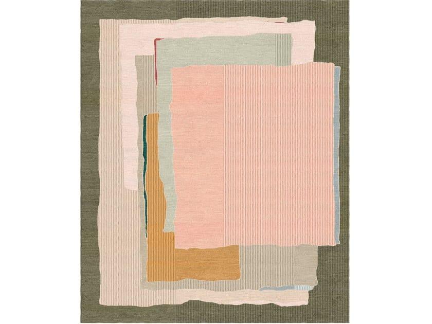 Handmade rectangular rug MAN WHO? MAN RAY by Tapis Rouge