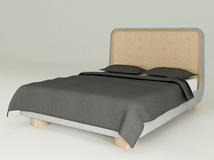 Wooden double bed MANAO | Bed by WUDA