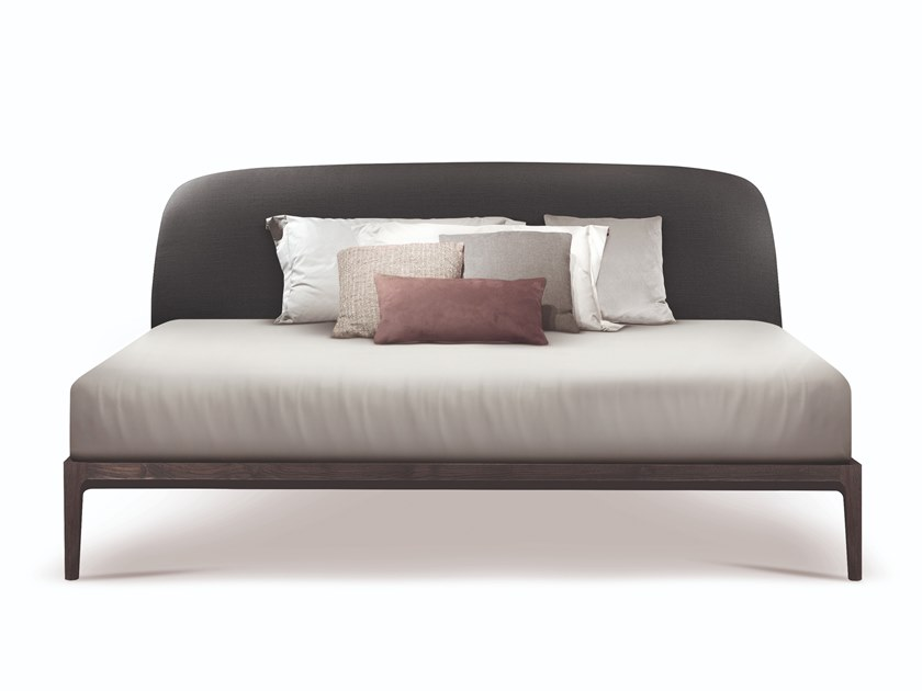 Double bed with upholstered headboard MANDA | Bed by Busnelli