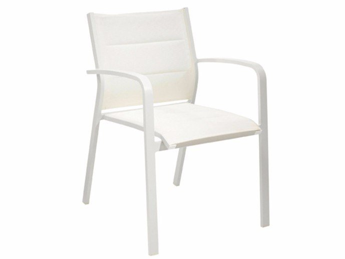 Stackable garden chair with armrests MANDA by MOBIKA GARDEN