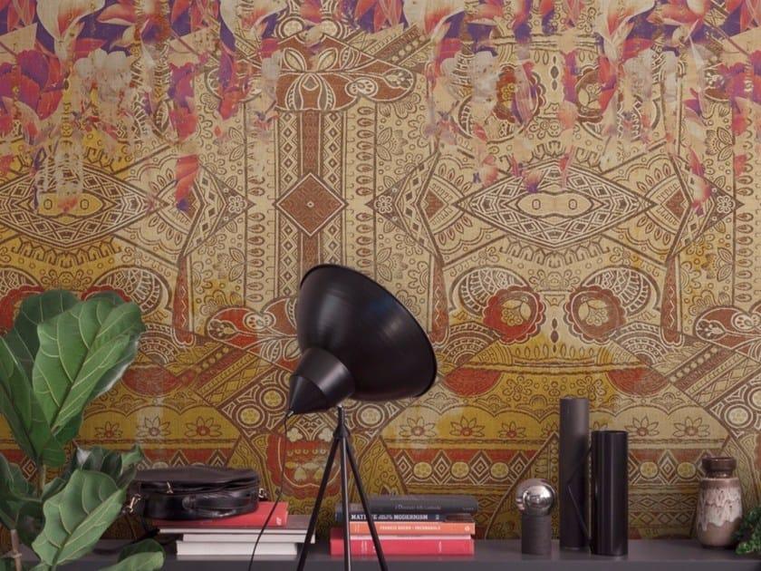 Panoramic motif wallpaper MANDALA by Inkiostro Bianco