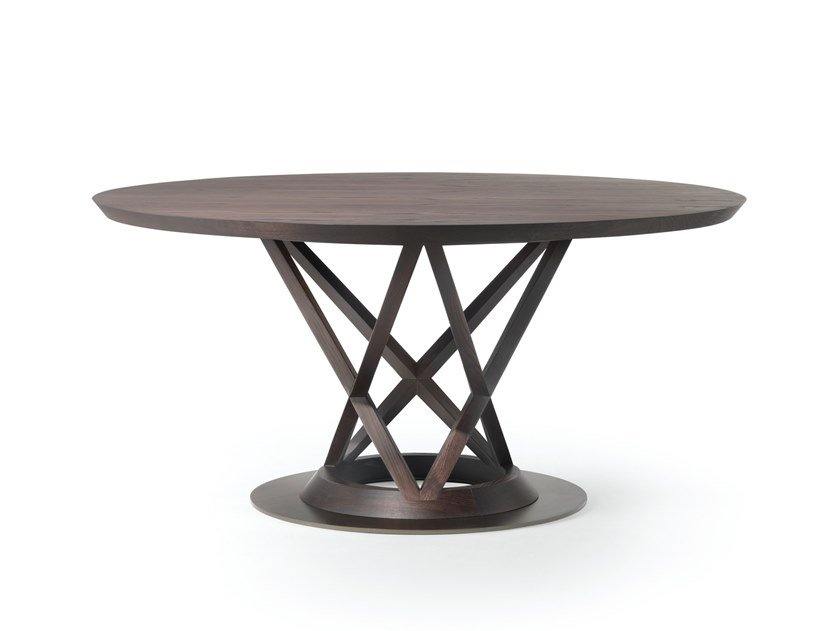 Round wooden table MANDARIN by Busnelli