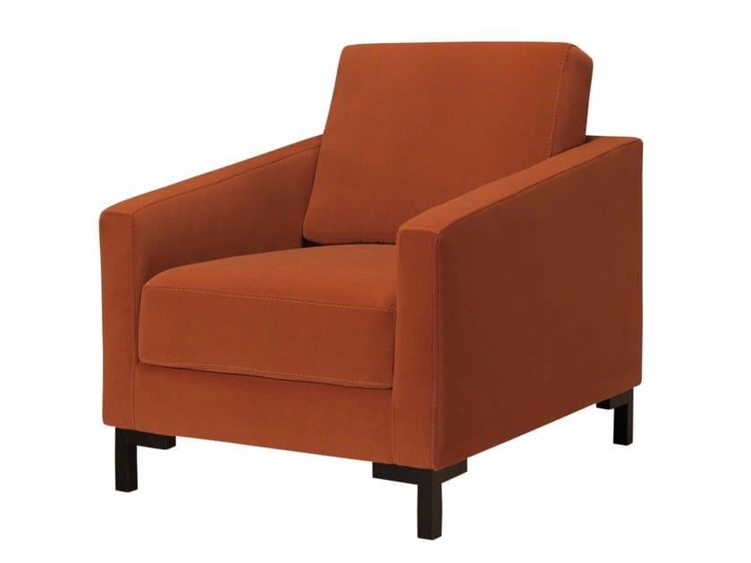 Fabric armchair with armrests MANDERLEY | Armchair by AZEA