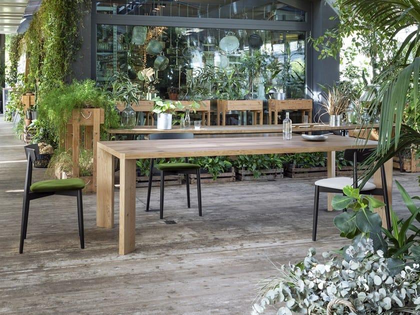 Rectangular oak table MANERO by Miniforms