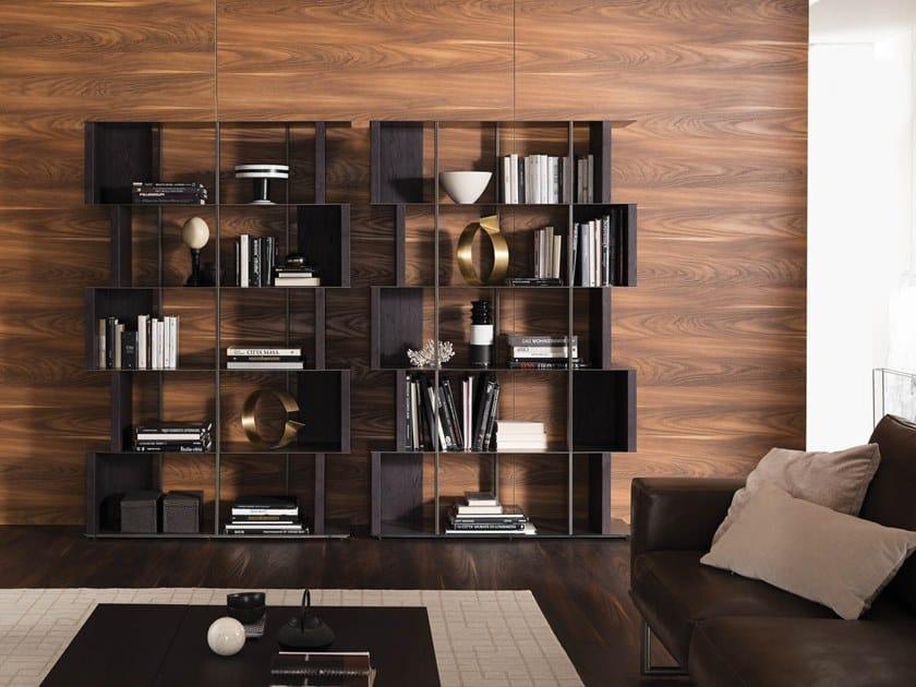 Freestanding sectional bookcase MANGA by Ozzio Italia