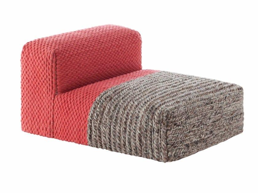 Wool armchair MANGAS SPACES | Armchair by GAN