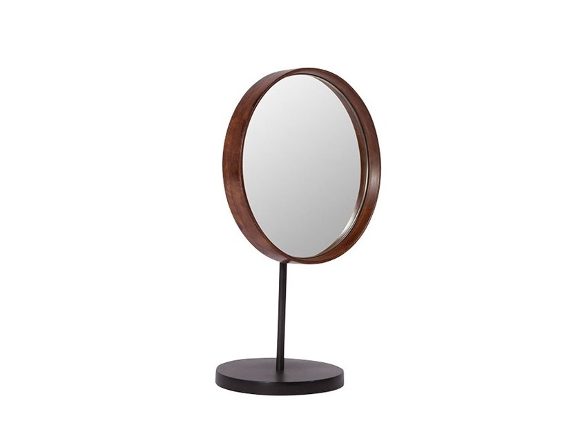 Countertop round framed mirror MANGO | Countertop mirror by 101 Copenhagen