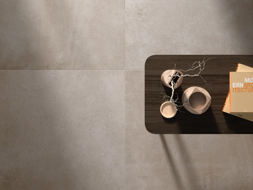 Porcelain stoneware wall/floor tiles with concrete effect MANHATTAN by Casalgrande Padana