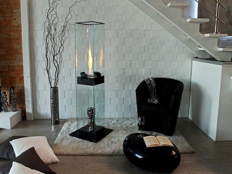 Freestanding bioethanol vent free fireplace MANHATTAN by bioKamino