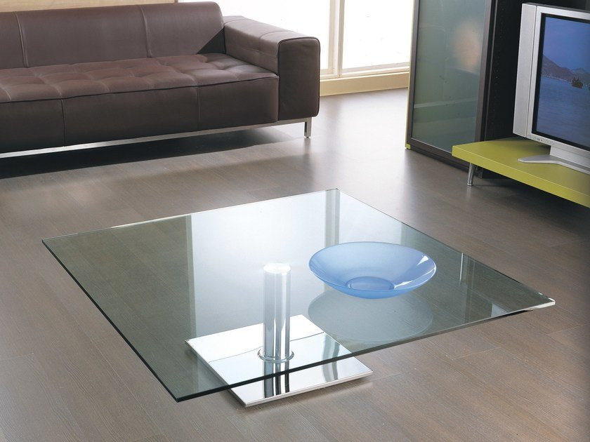 Glass coffee table for living room MANHATTEN by IDEAS Group