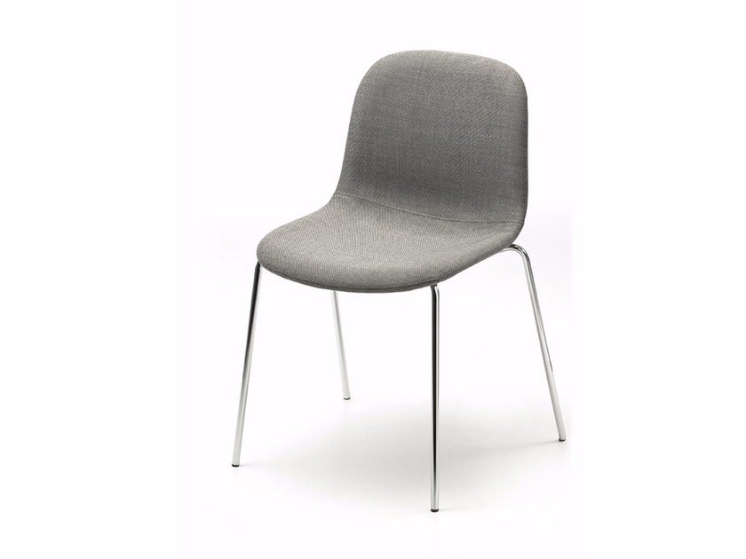 Upholstered stackable fabric chair MANI FABRIC 4L by arrmet