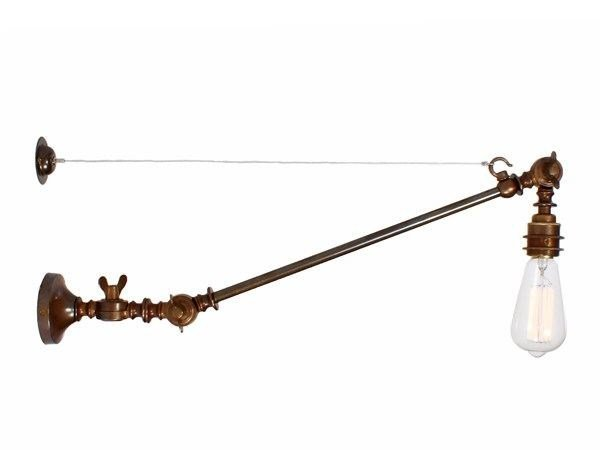Direct light handmade wall lamp MANICK ADJUSTABLE INDUSTRIAL WALL LIGHT by Mullan Lighting