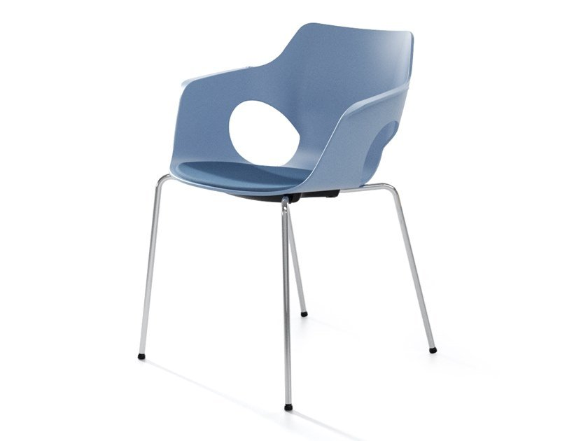 Stackable polypropylene chair with integrated cushion MANTA | Chair with integrated cushion by IBEBI