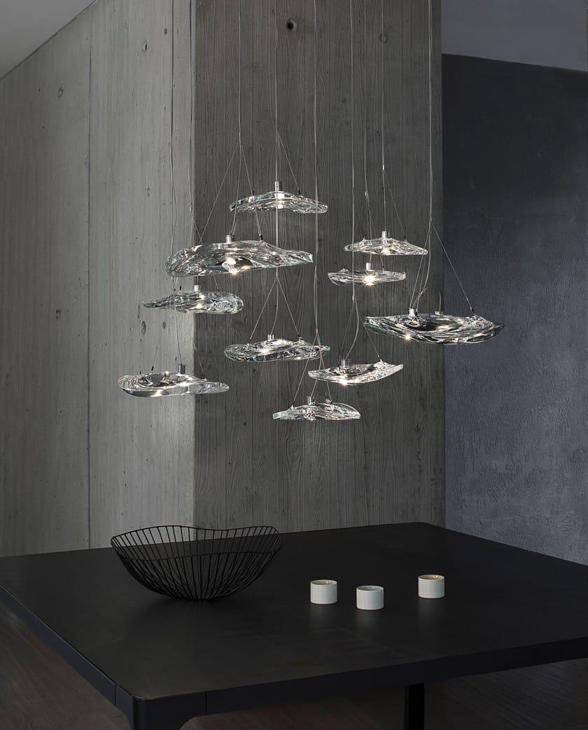 LED crystal pendant l& MANTA By TERZANI design Dodo Arslan Nicolas Terzani & LED crystal pendant lamp MANTA By TERZANI design Dodo Arslan ...