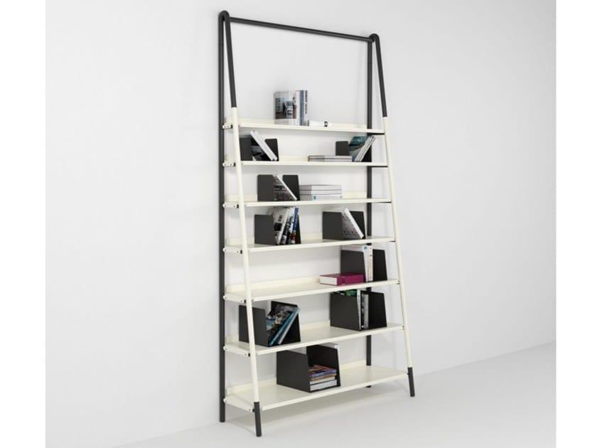 Open iron bookcase MANTOVA by Barel