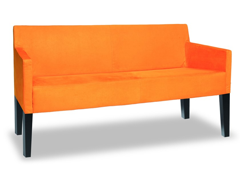Fabric small sofa MANU 03 by Manganèse Éditions
