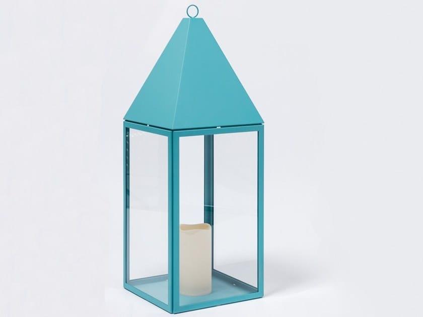 Powder coated steel lantern MANU 25   Lantern by Manganèse Éditions