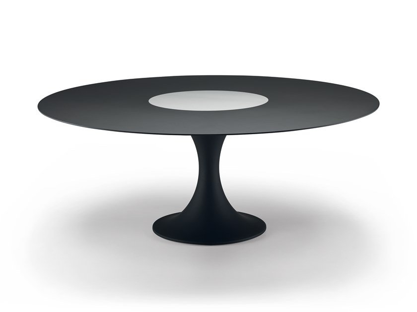 Mesa lacada redonda Lazy Susan MANZÙ TABLE 08C by Alias